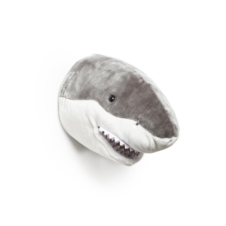 Animal head wall mounts for children's bedroom - shark