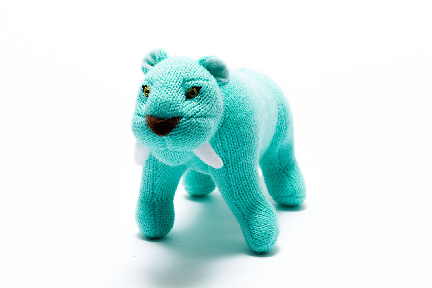 Sabre tooth tiger baby rattle