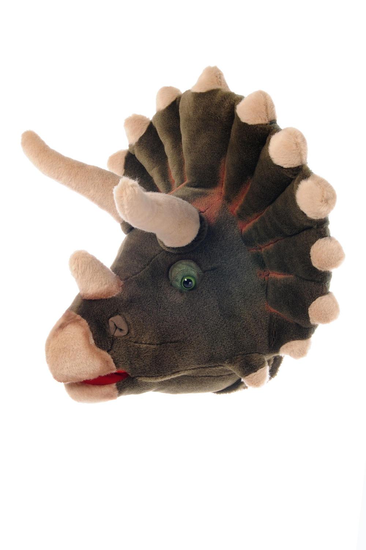 Animal head wall mounts for children's bedroom - dinosaur