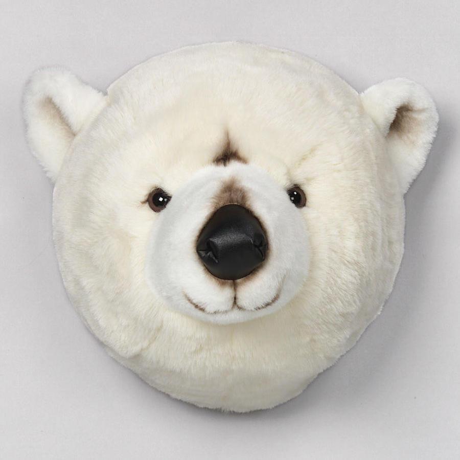 Animal head wall mounts for children's bedroom - polar bear