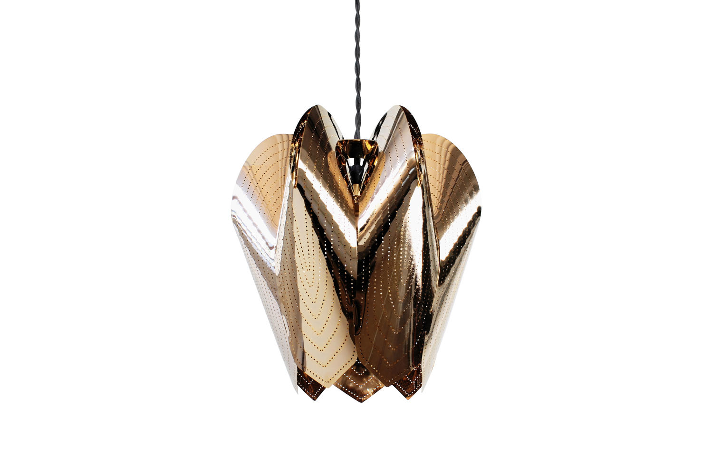 Gold ceiling pendant lamp