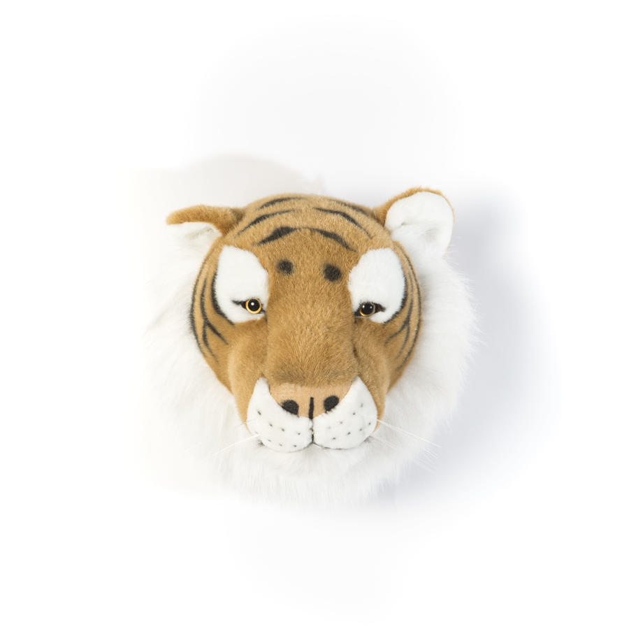 Animal head wall mounts for children's bedroom - tiger