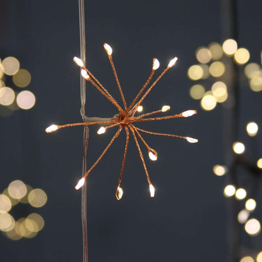 Copper starburst indoor/outdoor 6m light string