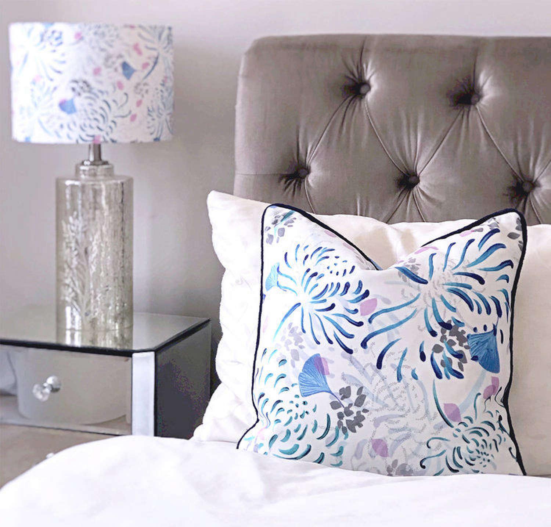Amanda West grey shimmer velvet cushion