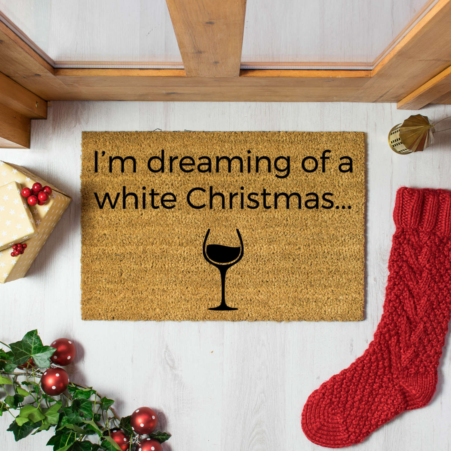 I'm dreaming of a white Christmas doormat