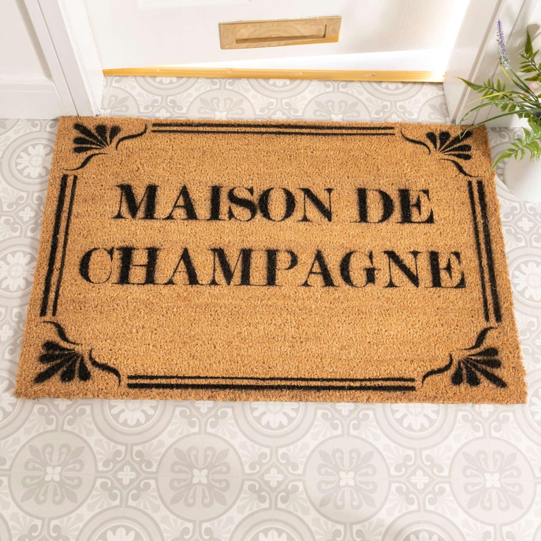 Maison de Champagne design rural house larger size doormat
