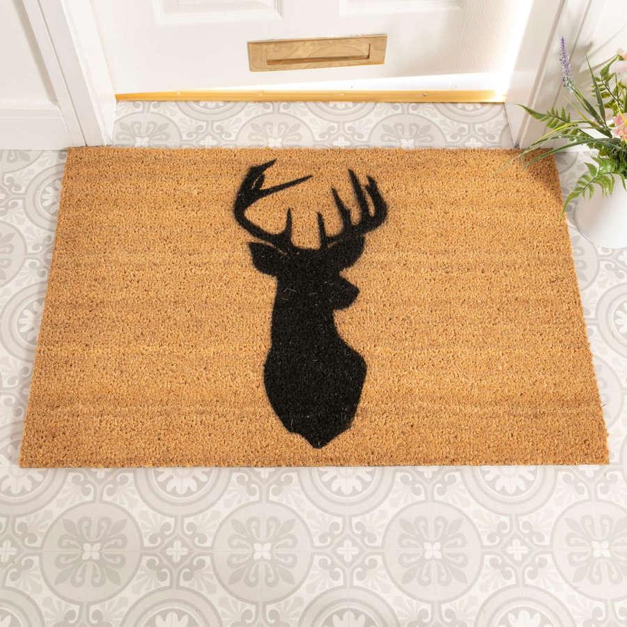 Stag design rural house larger size doormat