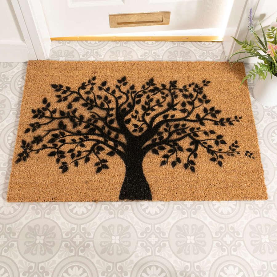 Tree of Life design rural house larger size doormat