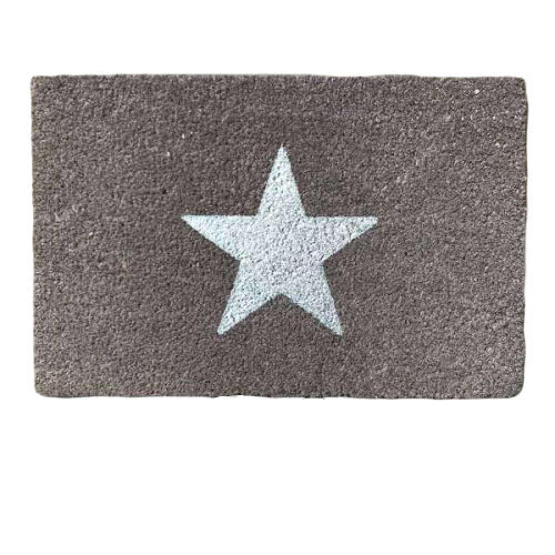 Grey glitter star design standard size doormat