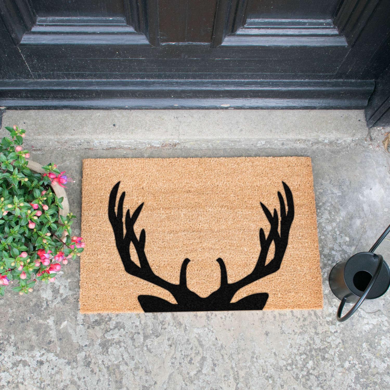 Stag antler design standard size doormat