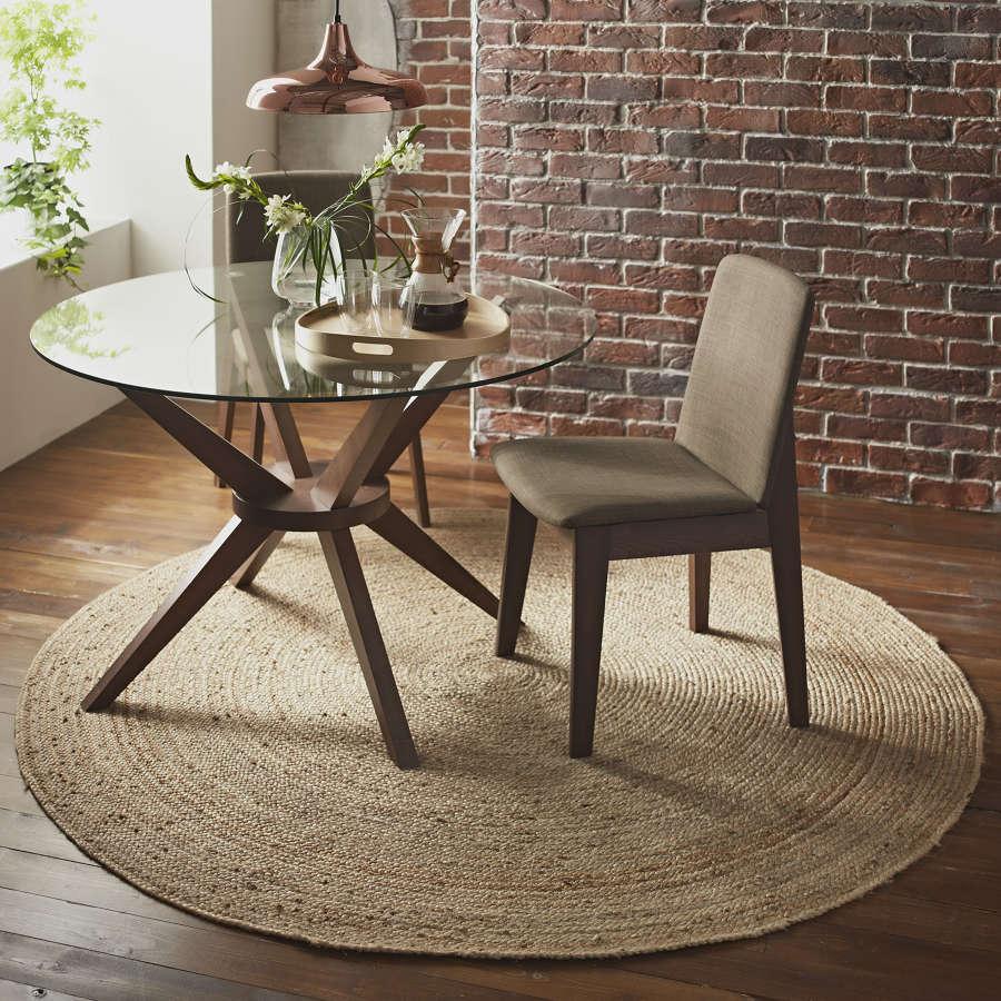 Round natural jute rug - 200cm diameter