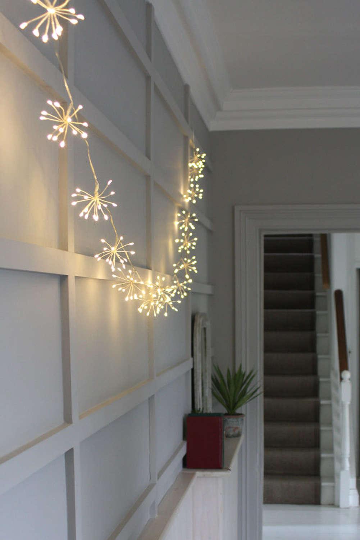 Silver starburst indoor/outdoor 6m light string