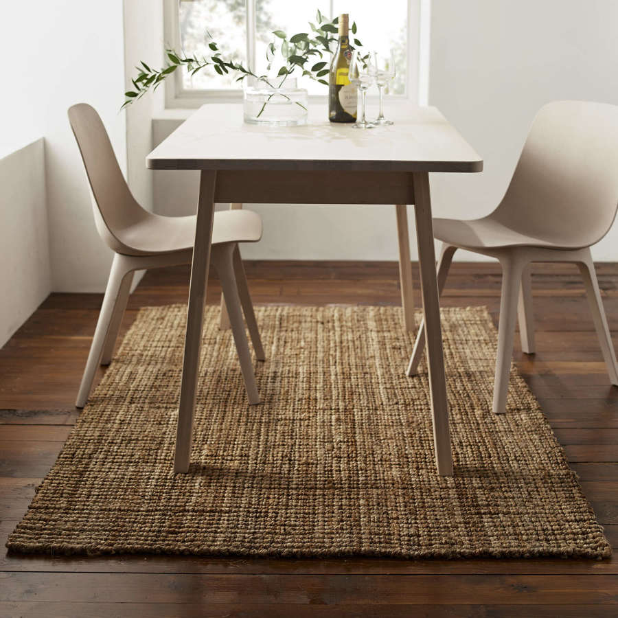 Cumbria thick rectangular jute rug