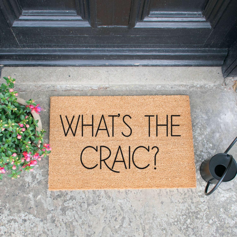 What's the Craic? design standard size doormat