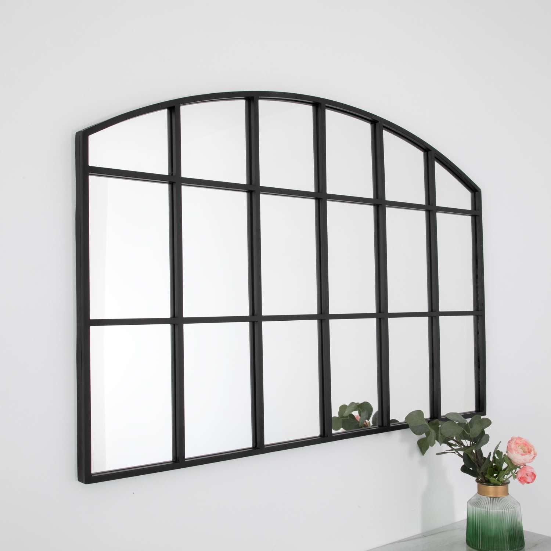 Horizontal arch mirror - black