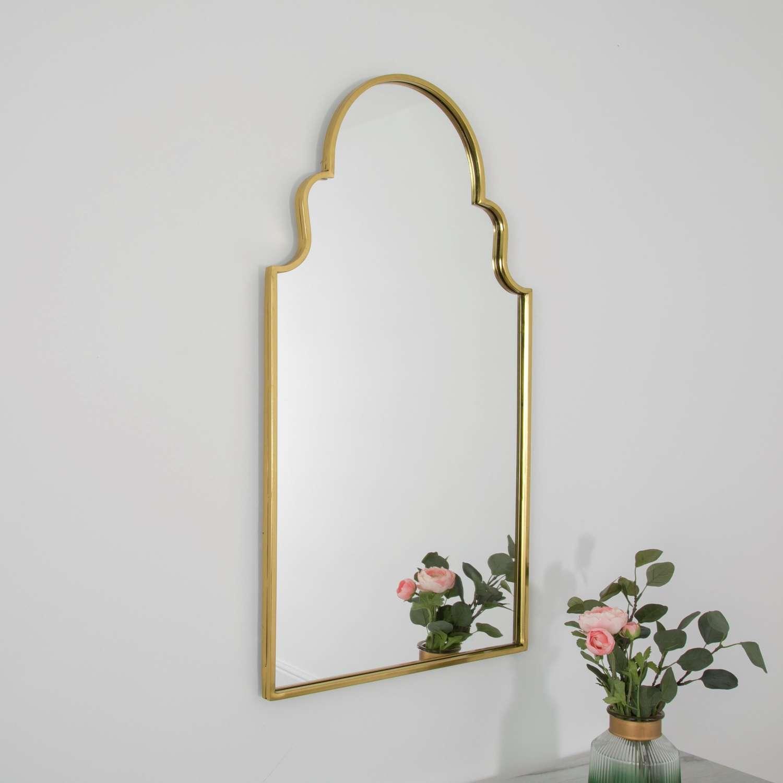 Roman window mirror - gold