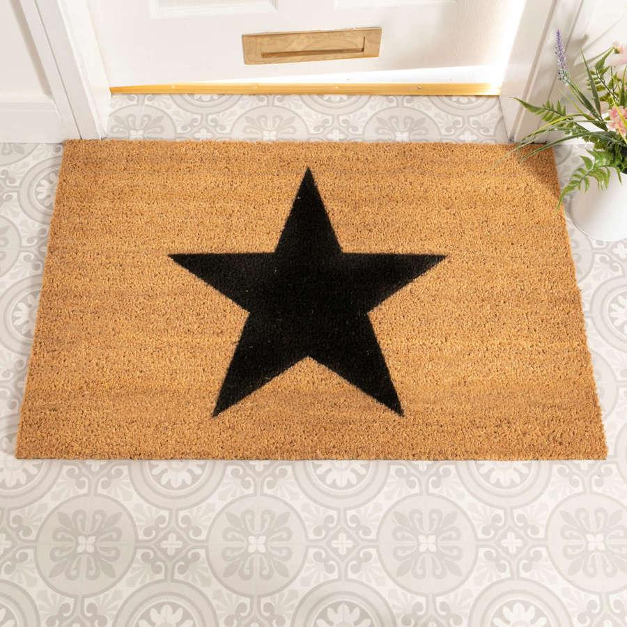 Star design rural house larger size doormat