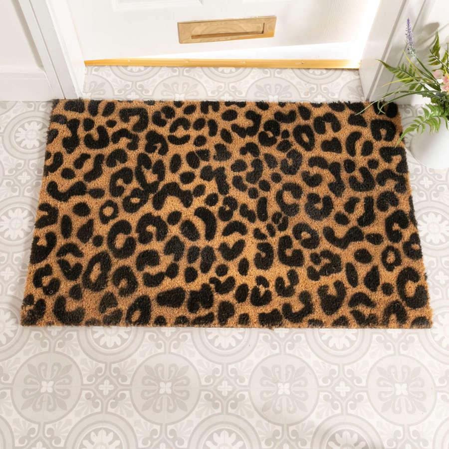 Leopard design rural house larger size doormat
